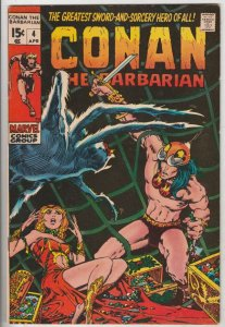 Conan the Barbarian #4 (Apr-71) VF/NM- High-Grade Conan the Barbarian