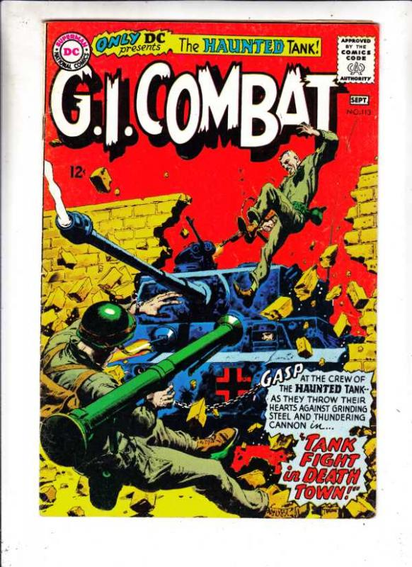 G.I. Combat #113 (Sep-65) FN/VF Mid-High-Grade The Haunted Tank
