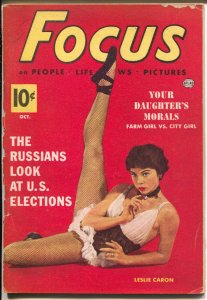 Focus 10/1952-Atlas-Leslie Caron-lady Marine-Blood & Thunder-mini mag-VG