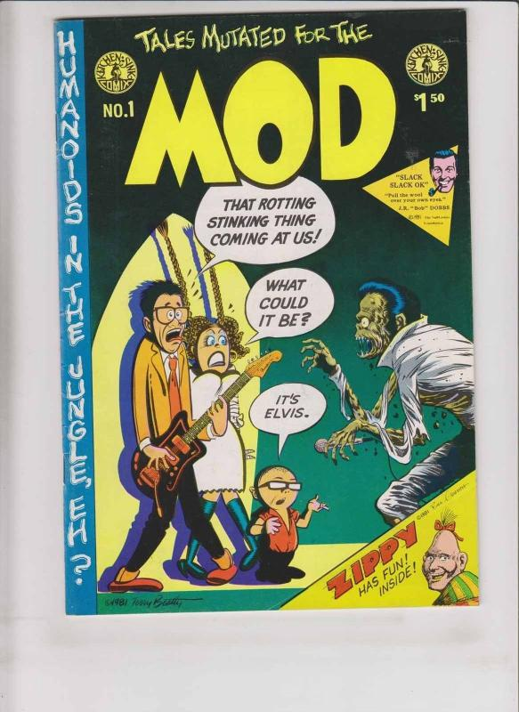 Mod #1 VF (1st) print - zippy the pinhead - bill griffith - terry beatty EC