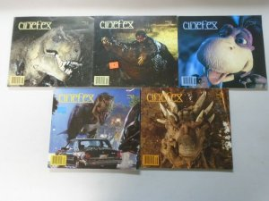 Cinefex Dinosaurs lot 5 different issues avg 6.0 FN (1993-97)