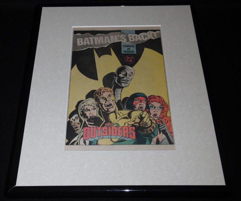 The Outsiders 1987 DC Batman's Back Framed 11x14 ORIGINAL Advertisement