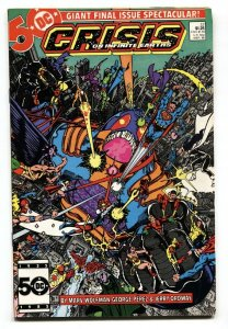 CRISIS ON INFINITE EARTH #12 comic book 1986- Wolfman- Perez- vf