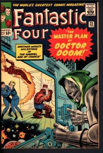 FANTASTIC FOUR #23-DR. DOOM COVER-JACK 'KING' KIRBY VF