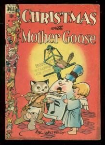 CHRISTMAS WITH MOTHER GOOSE-FOUR COLOR COMICS #201-DELL-very good-store stamp VG