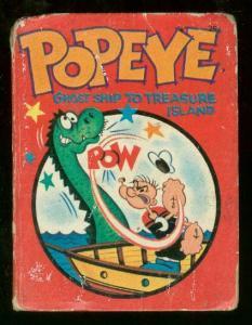 POPEYE #2008-GHOST SHIP TREASURE ISLAND-BIG LITTLE BOOK G/VG