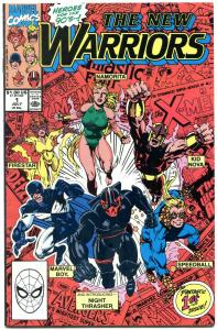 The New Warriors #1 1990- First Printing- Night Thrasher- NM-