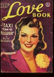 LOVE BOOK 1941 NOV PRETTY GIRL PIN-UP COVER PULP ROMANC VG