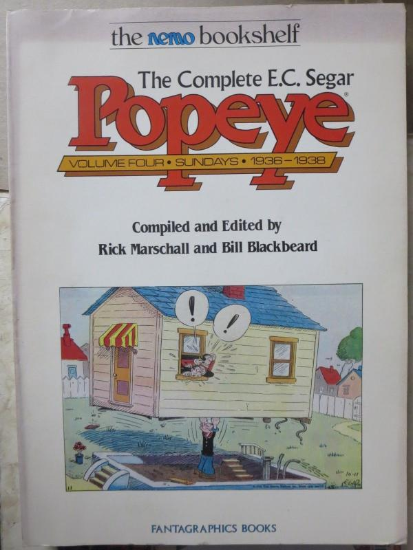 The Complete E.C. Segar POPEYE Vol. 1-4 (Sundays)Fantagraphics Bill Blackbeard