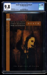 Death: The High Cost of Living #2 CGC NM/M 9.8 White Pages