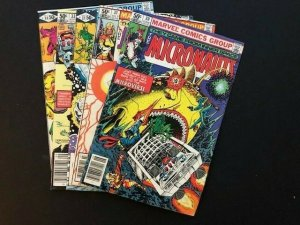 Lot of 5- Marvel THE MICRONAUTS #30-34 FINE (A180)