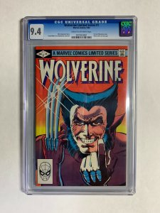 Wolverine Limited series 1 cgc 9.4 cr/ow pages marvel bronze age