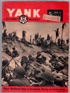 Yank 3/31/1944-Army Weekly-Sad Sack-Invasion cover-mental breakdowns-VG