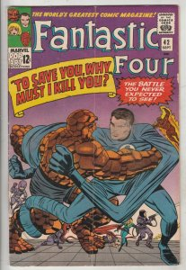 Fantastic Four #42 (Sep-65) FN+ Mid-High-Grade Fantastic Four, Mr. Fantastic ...