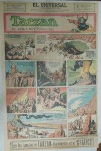 Tarzan Sunday Page #619 Burne Hogarth from 1/17/1943 in Spanish! Full Page Size