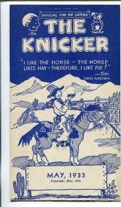 The Kicker 5/1933-pre comic book promo giveaway-Western-3 3/4 X 6 3/4-FN