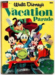 WALT DISNEY'S VACATION PARADE #5 (JULY 1954) 4.0 VG 100 Pgs! 12 Disney Stories!