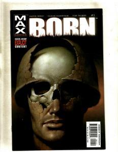 Lot of 9 Comic Books Born #1 1 2 2 3 4 4 Eternal #1 Max Sampler #1 HY2