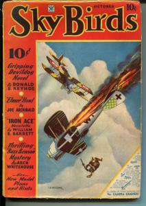Sky Birds 10/1934-Devildog-Keyhoe-Iron Ace-Barrett-Buzz Benson-Whitehouse-VG