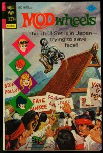 Mod Wheels #19 1976- Gold Key comics-MOTORCYCLE COVER VG
