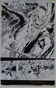 NICOLA SCOTT / DOUG HAZLEWOOD original art, TEEN TITANS #94, pg 10, 11x17, 2011