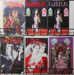 Dark Fantasies Lot feat. Donna Mia 6 Issues w. Neil Gaiman Rick Rieger ++