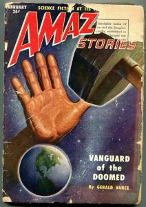 Amazing Stories Pulp February 1951- Vanguard of the Doomed- G-