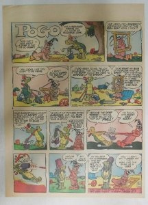 Pogo Sunday Page by Walt Kelly from 3/24/1957 Tabloid Size: 11 x 15 inches