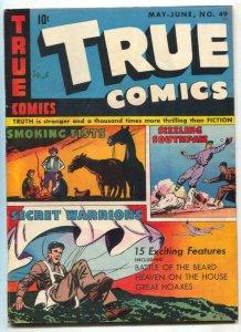 True Comics #49 1946- parachute cover- Rube Maquard FN