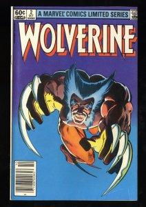 Wolverine (1982) #2 FN 6.0 Newsstand Variant