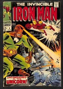 Iron Man #4 GD/VG 3.0 1st Unicorn! Marvel Comics