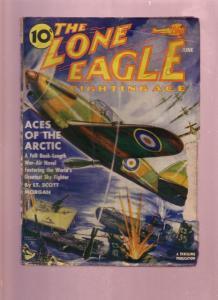 LONE EAGLE-FIGHTING ACE JUNE 1941-WW II ERA HERO PULP G