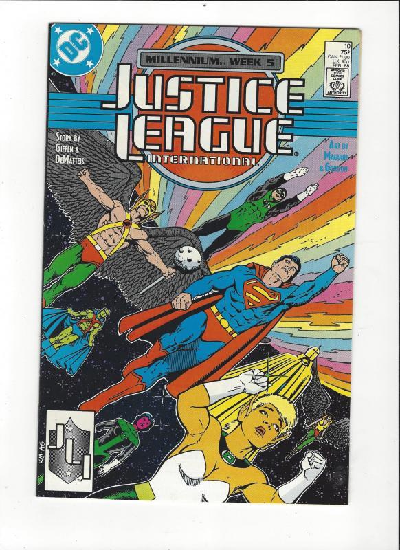 Justice League International #10 1987 DC Comics Copper Age  NM