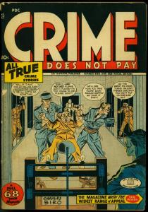 Crime Does Not Pay #47 1946- Electric Chair cover- Guardineer art G/VG