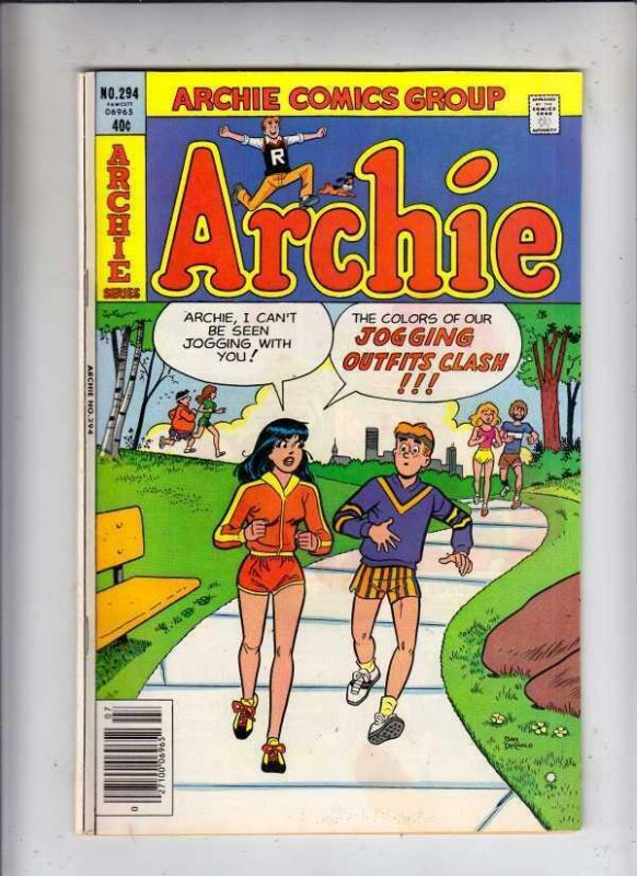 Archie  # 294  strict  FN/VF- Cover Jogging, Betty, Veronica, Reggie 50% Off