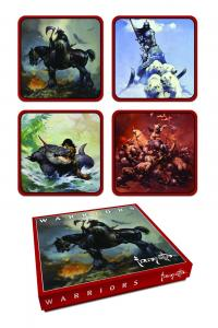 Frank Frazetta Warrior Coaster Set of 4 (Dark Horse, 2015) New/Sealed!