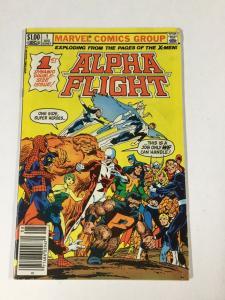 Alpha Flight 1 4.5 Vg+ Very Good+ Newsstand Edition Marvel Bronze