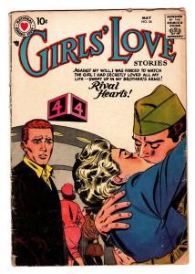 GIRLS LOVE STORIES #54 dc comic book 1958-ROMANCE-MILITARY KISS