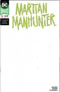 Martian Manhunter 1 Blank Sketch Variant NM-