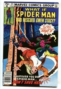 What If #24 comic book Spider-Man rescued GWEN STACY comic book