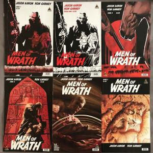 MEN OF WRATH - Six (6) Issue Lot - #1, #1 (2nd), #2, #3, #5, #5 Variant - Aaron