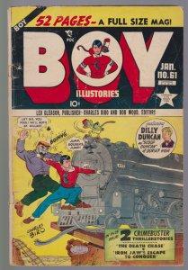 Boy Comics #61 (Jan 1951) 3.0 GD/VG Lev Gleason Crimebuster Origin