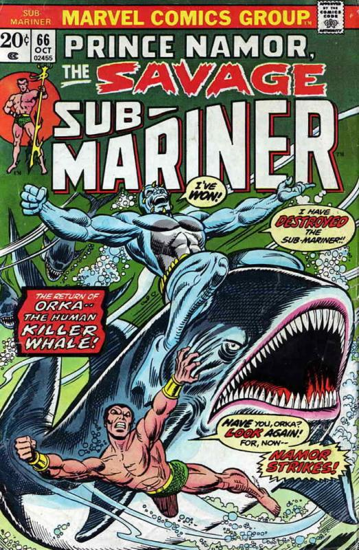 Sub-Mariner, The (Vol. 2) #66 FN; Marvel | save on shipping - details inside