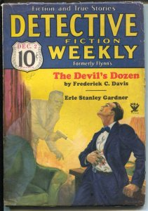 Detective Fiction Weekly 12/2/1933-Erle Stanley Gardner-Frederick C Davis-VG