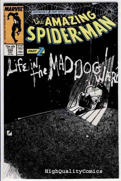 SPIDER-MAN #295, Mad Dogs, Kyle Baker, Amazing, 1963, VF+/NM