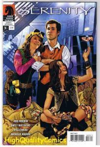 SERENITY #3, VF/NM, Better Days, Adam Hughes, Joss Whedon, 2008, more in store