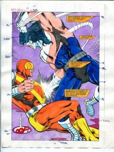 Justice Machine #24 Page #14 1988 Original Color Guide