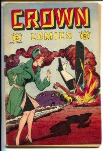 Crown Comics #10 1947-Airplane crash cover-Vic Cutler-Frank Bolle & Leonard S...