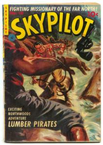 Skypilot #10 1951- Saunders painted cover- Rare comic VG