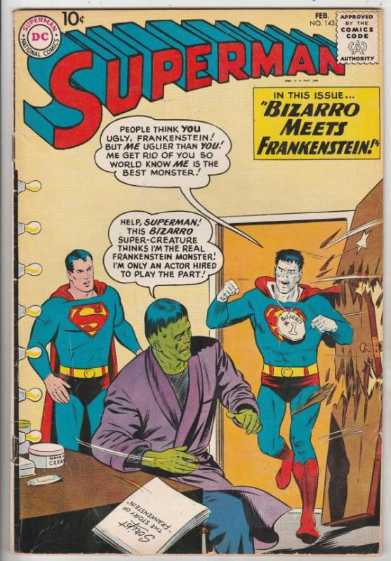 Superman #143 (Feb-61) FN+ Mid-High-Grade Superman, Jimmy Olsen,Lois Lane, La...